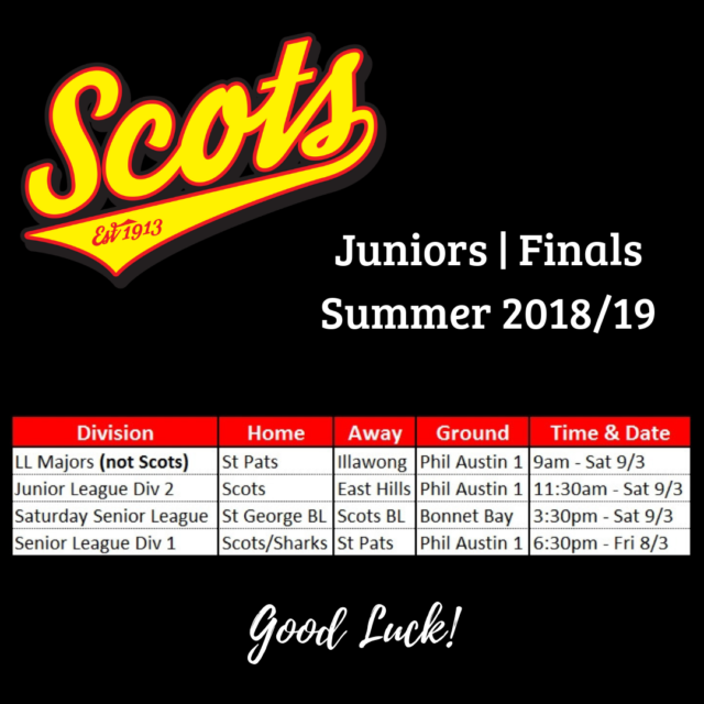 Junior Finals Draw 18/19